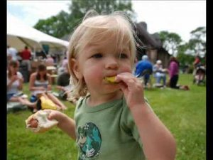 Child with Hot Dog